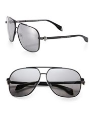 Alexander Mcqueen 63Mm Aviator Sunglasses Black