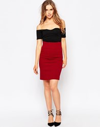Ganni Bodycon Pencil Skirt Red