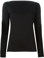 Erika Cavallini Slash Neck T Shirt Black