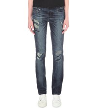 Diesel Belthy Slim Fit Low Rise Turn Up Jeans Black