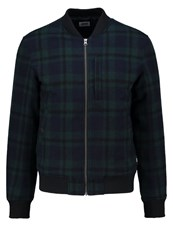 Edwin Bomber Jacket Black Dark Green