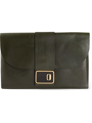 Christian Dior Vintage 70S Flap Clutch Green