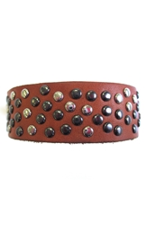 Will Leather Goods Studded Cuff Cognac