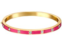 Kate Spade Set In Stone Enamel Stone Hinged Bangle Clear Pink Bracelet