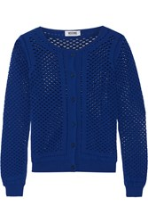 Moschino Cheap And Chic Open Knit Cardigan Blue