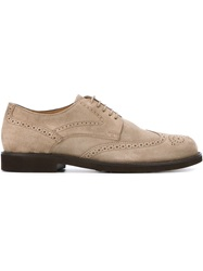 Tod's Suede Brogues Nude And Neutrals