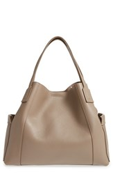 Aquatalia By Marvin K Leather Tote Beige Taupe