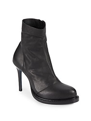 Ann Demeulemeester Leather Zip Stiletto Booties Black