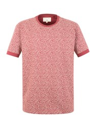 Racing Green Oliver All Over Print T Shirt Red