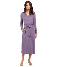 Yummie Tummie Pima Jersey Long Robe Mulled Grape Women's Robe Navy
