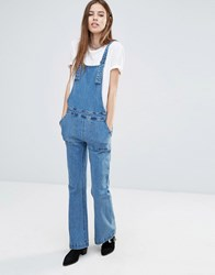 Noisy May Retro Dungarees Medium Blue