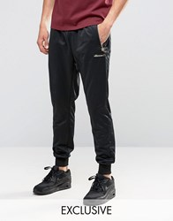 Ellesse Skinny Joggers With Gold Logo Black