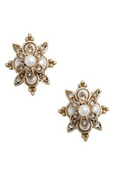 Marchesa Women's Faux Pearl And Crystal Earrings
