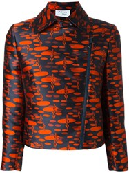 Akris Zipped Printed Jacket Red