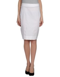 Vivienne Westwood Anglomania Knee Length Skirts White