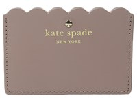 Kate Spade Lily Avenue Patent Card Holder Porcini Rose Taupe Credit Card Wallet Brown