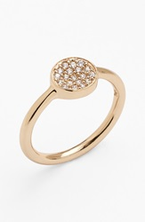 Melinda Maria 'Cade' Pave Ring Gold Clear
