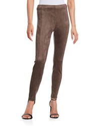 Ivanka Trump Faux Suede Pants Taupe