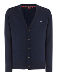 Merc Harris Cardigan Navy