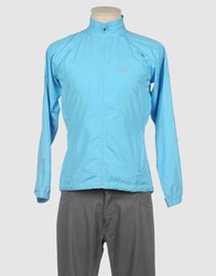 Asics Coats And Jackets Jackets Men Sky Blue