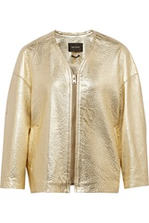 Isabel Marant Camelia Metallic Textured Leather Jacket