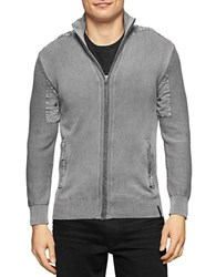 Calvin Klein Jeans Zip Up Cardigan Sweater Grey