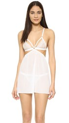 Honeydew Intimates Lucy Lace Babydoll And G String Set White