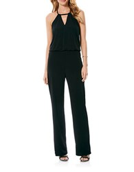 Laundry By Shelli Segal Solid Halter Jumpsuit Black