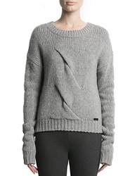 Pink Tartan Twisted Cable Sweater Grey