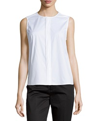 J Brand Ready To Wear Sleeveless Concealed Placket Blouse White