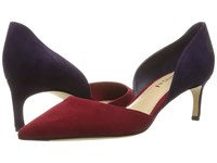 Via Spiga Ava Red Purple Kid Suede Leather Women's Wedge Shoes