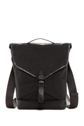 Cole Haan Waxed Canvas And Leather Small Messenger Black