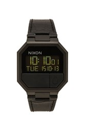 Nixon Re Run Leather Black