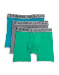 Under Armour 3 Pack Boxer Briefs Teal