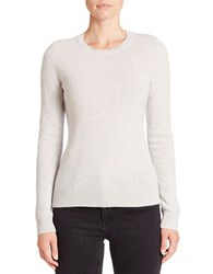 Lord And Taylor Cashmere Sweater Light Grey Heather