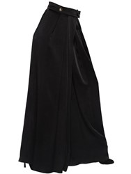 Lanvin High Waisted Satin Palazzo Pants