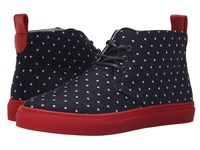 Del Toro Polka Dot Sunbrella Chukka Sneaker Navy White Men's Shoes Blue