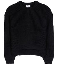 Acne Studios Hira Wool And Mohair Blend Knitted Sweater Black