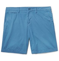 Burberry Brit Slim Fit Washed Cotton Shorts Blue