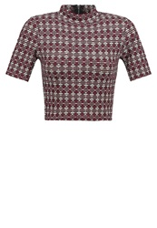 New Look Print Tshirt Red Pattern