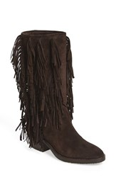 Aquatalia By Marvin K Women's 'Lisette' Waterproof Fringe Boot Espresso