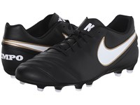 Nike Tiempo Rio Iii Fg Black White Men's Soccer Shoes