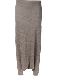 Forme D'expression Drop Crotch Cropped Trousers Grey
