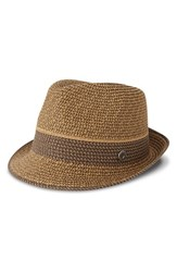 Men's Ben Sherman Stripe Straw Trilby