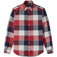 Gitman Brothers Vintage Double Face Twill Check Shirt Red