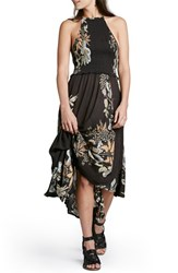 Women's Free People 'Season In The Sun' Floral Print Slipdress Black Combo