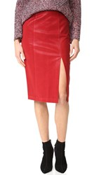 J.O.A. Faux Leather Skirt Red