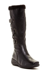 Godiva Tammy Faux Fur Boot Black