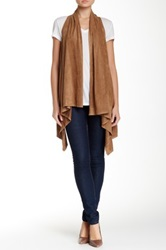 Max Studio Faux Suede Vest Brown