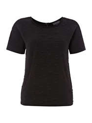 Pied A Terre Textured Jersey Couture Tee Black